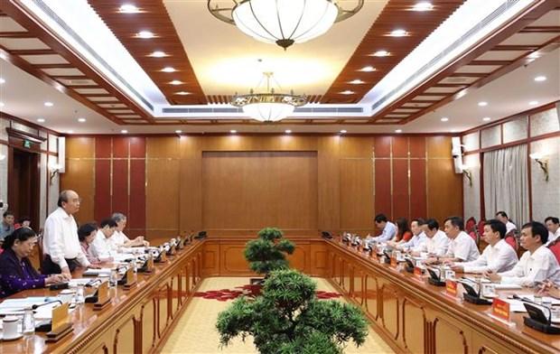 迎接党的十三大:越共中央政治局就2020-2025年任期党代表大会准备工作与所有中央直属党委进行分组讨论 hinh anh 2