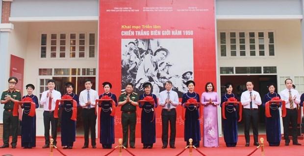 1950年边界战役胜利展览会在高平省正式开幕 hinh anh 1