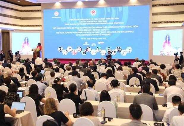 2020年第三届越南革新与发展论坛正式开幕 hinh anh 1