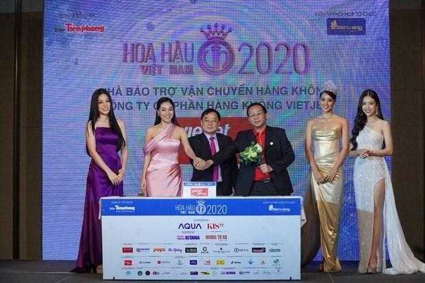 """越捷航空公司同""""香色十年""""的2020年越南小姐选美大赛一路同行 hinh anh 1"""