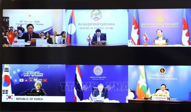 湄公河次区域国家与韩国承诺恢复全球贸易 确保公平获得疫苗权 hinh anh 1