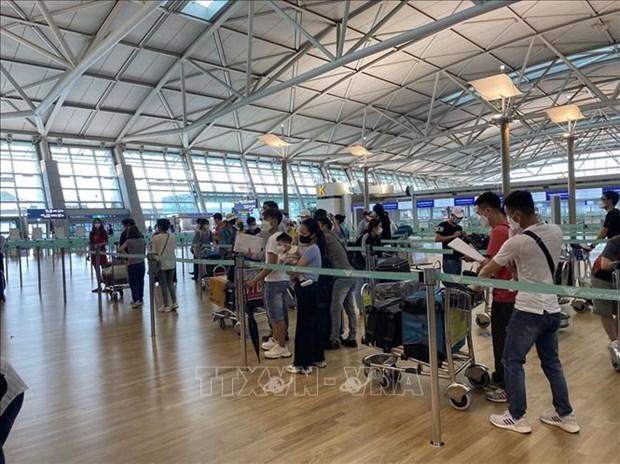 新冠肺炎疫情:在韩国的250多名越南公民安全回国 hinh anh 1