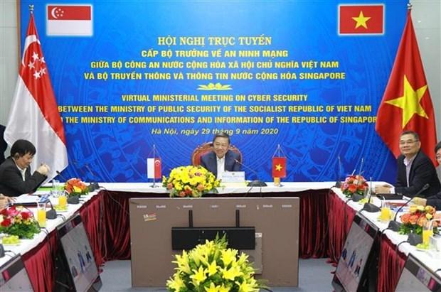 越南与新加坡加强网络安全领域的合作 hinh anh 1