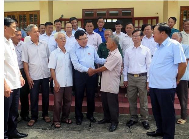 政府副总理兼外长范平明在太原省开展选民接待活动 hinh anh 1