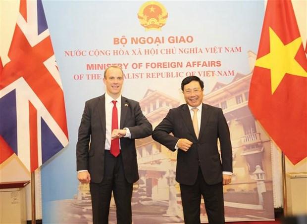 越南与英国发表关于战略伙伴关系的联合声明 hinh anh 2