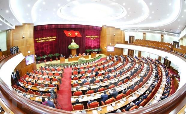 迎接党的十三大:越共第十二届中央委员会第十三次全体会议第三天新闻公报 hinh anh 1