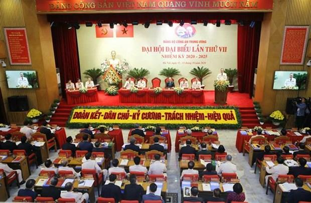 迎接党十三大:越共中央公安第七次代表大会开幕 hinh anh 1