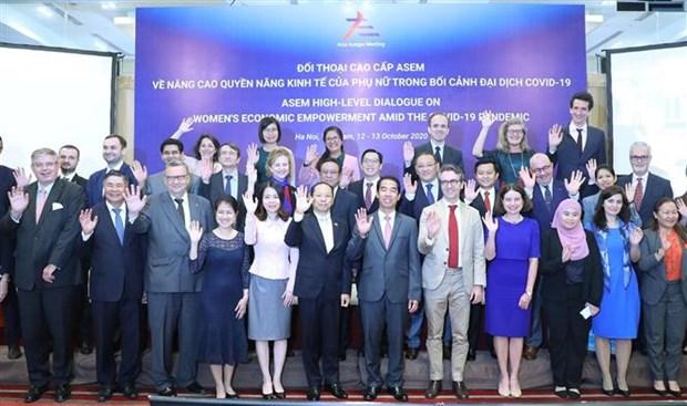 亚欧会议关于妇女经济赋权的高级别对话以视频方式举行 hinh anh 2