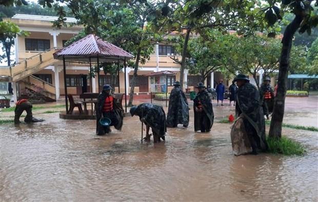 越南祖国阵线中央委员会致电慰问遭受洪灾的中部和西原各省市 hinh anh 1