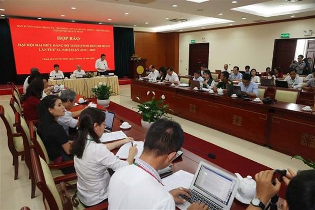 迎接越共十三大:越共胡志明市第十一次代表大会将于10月14日至18日召开 hinh anh 1