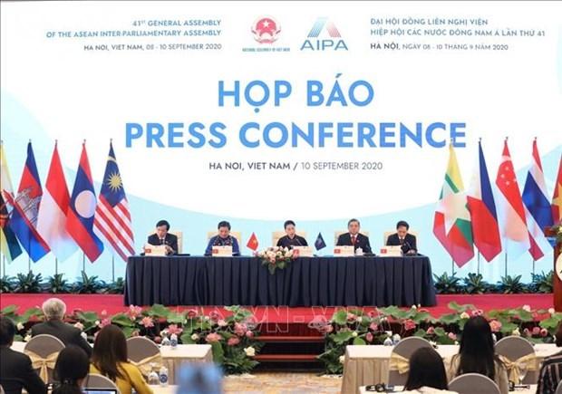 各国议会议长致信祝贺越南或会成功举办第41届东盟议会联盟大会 hinh anh 1