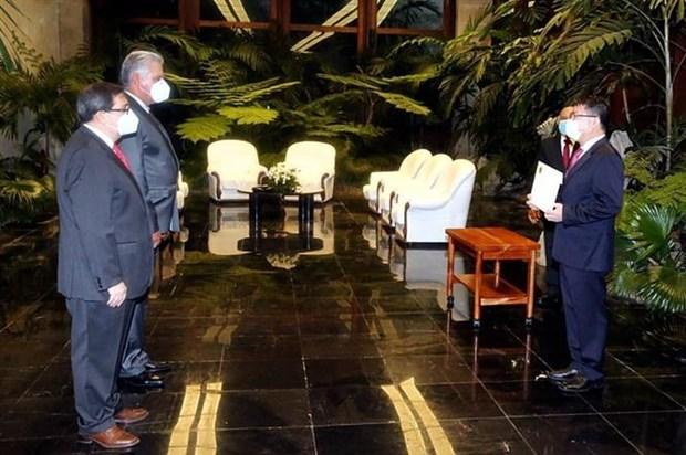 古巴领导人高度评价古巴与越南的模范关系 hinh anh 1