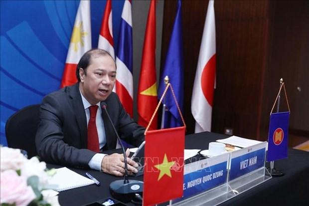 东亚峰会高级官员就应对新冠肺炎疫情召开会议 hinh anh 2