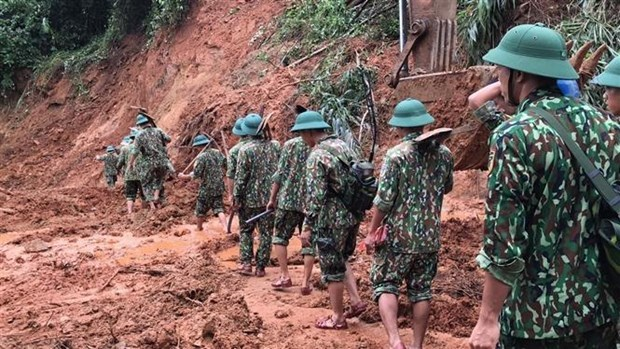 在广治省向化县山体滑坡事件牺牲的22名干部战士追悼会将于22日举行 hinh anh 2