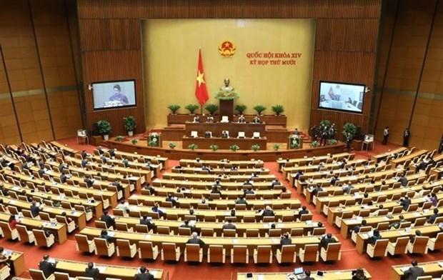 越南第十四届国会第十次会议新闻公报(第一号) hinh anh 1