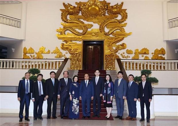 越南政府总理阮春福会见三星集团副总裁李在镕 hinh anh 2