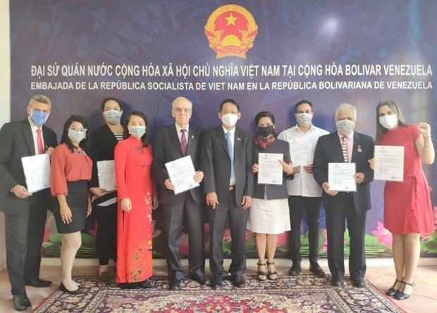 委内瑞拉—越南友好协会新的领导班子亮相 hinh anh 1