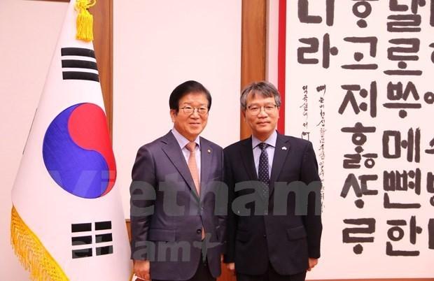 """韩国国会议长朴炳锡:越南是韩国""""新南方政策""""的核心合作伙伴 hinh anh 1"""
