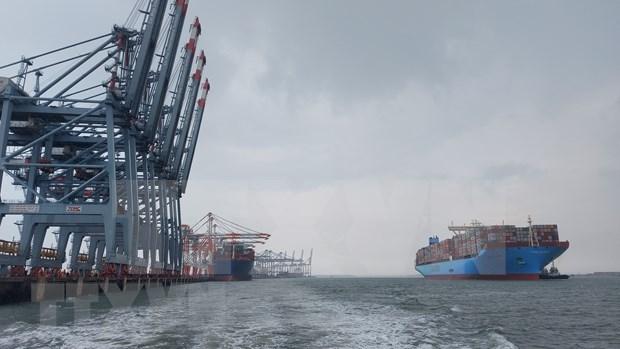 巴地头顿迎来世界超大型集装箱船 hinh anh 1