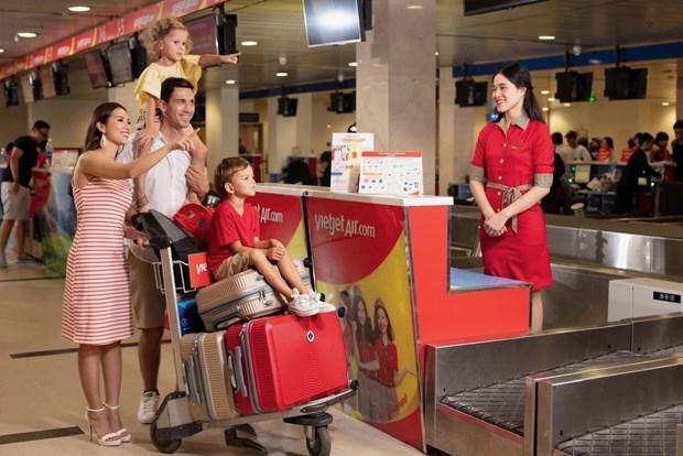 """越捷航空推出机票与托运行李""""双重""""优惠活动 hinh anh 2"""