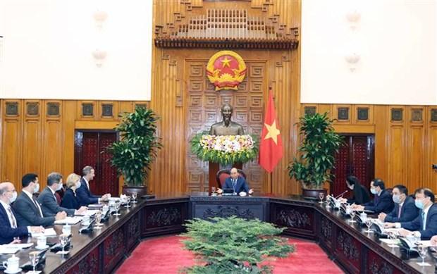 越南政府总理阮春福会见美国国际开发金融公司首席执行官 hinh anh 1