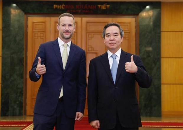 越共中央经济部部长阮文平:越南党和国家一直重视越美全面伙伴关系 hinh anh 1