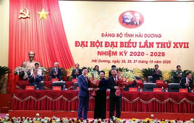 迎接党的十三大:范春升同志当选海阳省委书记 hinh anh 1