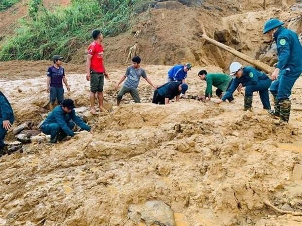 广南省又发生新一起泥石流事件 11人被掩埋 hinh anh 1
