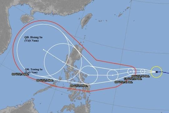 第10 号台风预计下周进入越南中部 hinh anh 1
