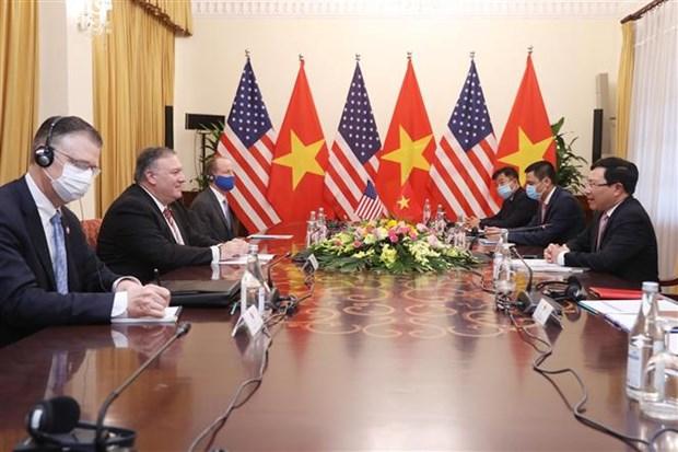 越南政府副总理兼外长范平明与美国国务卿蓬佩奥举行会谈 hinh anh 2