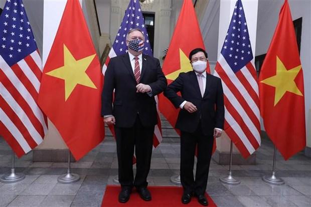 越南政府副总理兼外长范平明与美国国务卿蓬佩奥举行会谈 hinh anh 1