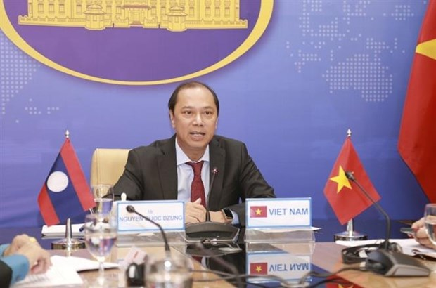 越南与老挝外交部第五次政治磋商以视频方式举行 hinh anh 2