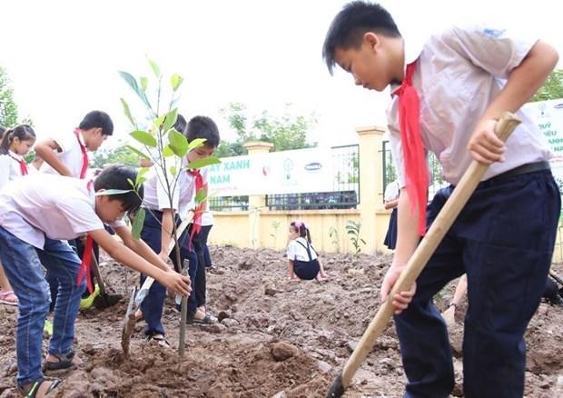 越南胡志明市致力让所有儿童都能生活在绿色清洁安全环境中 hinh anh 1