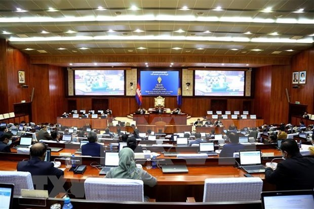 柬埔寨国会通过有关与越南的陆地边界勘界立碑工作的议定书 hinh anh 1