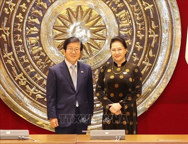 韩国媒体:韩国国会议长朴炳锡希望提升韩越关系水平 hinh anh 1