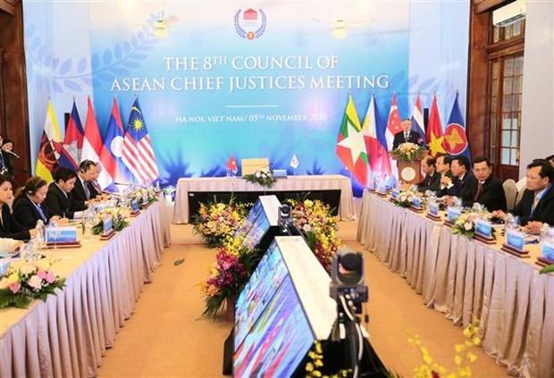 东盟首席法官理事会第八次会议开幕 hinh anh 1