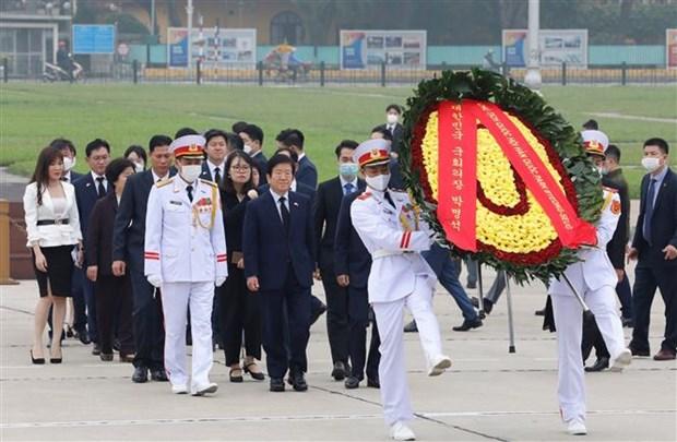 韩国国会议长圆满结束对越南进行的正式访问 hinh anh 2