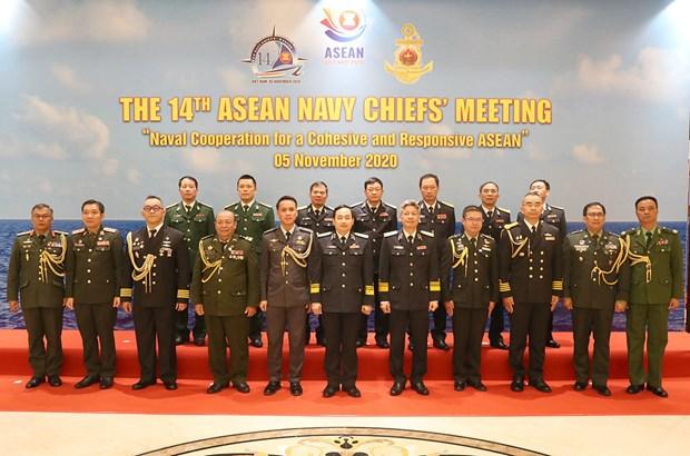 第14届东盟海军司令会议首次以视频方式举行 hinh anh 1