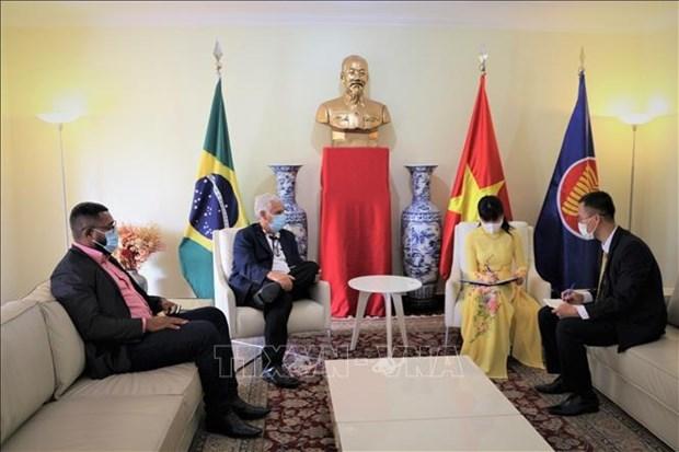 巴西劳工党希望加强与越南党和人民的友好关系 hinh anh 1