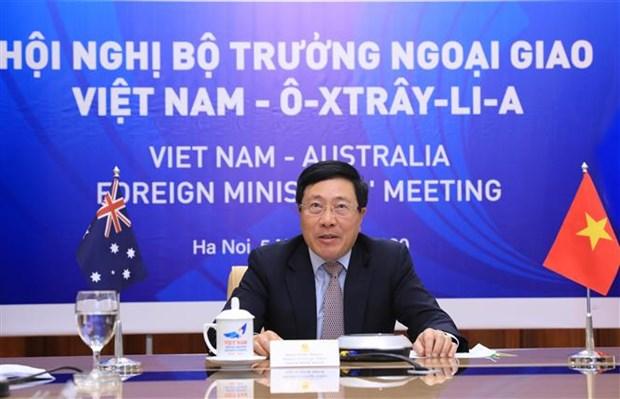 第二次越南与澳大利亚外交部长年度会议以视频形式举行 hinh anh 2