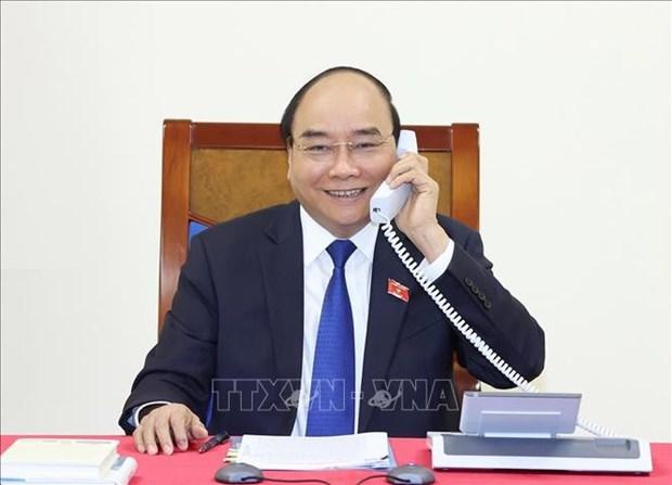 ASEAN 2020: 政府总理阮春福与泰国总理巴育举行电话会谈 hinh anh 1