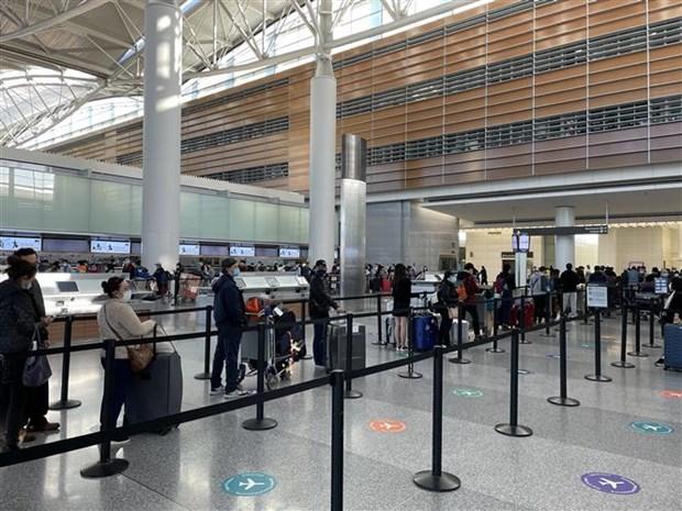 新冠肺炎疫情:将在美国和日本滞留的近360名越南公民安全接回国 hinh anh 1