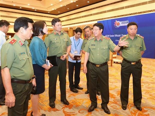 公安部领导检查第三十七届东盟峰会筹备工作 hinh anh 1