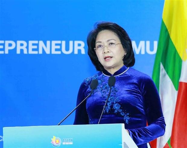 东盟女企业家携手应对新冠肺炎和气候变化 hinh anh 2