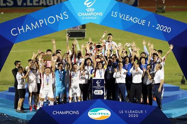 2020年越南足球甲级联赛:Viettel足球俱乐部首次夺得冠军 hinh anh 1