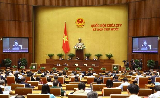 越南第十四届国会第十次会议: 国会进入质询和询问活动的第二天 hinh anh 1