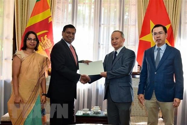 越南驻斯里兰卡大使馆为越南中部灾民开展灾后重建工作提供捐助 hinh anh 1