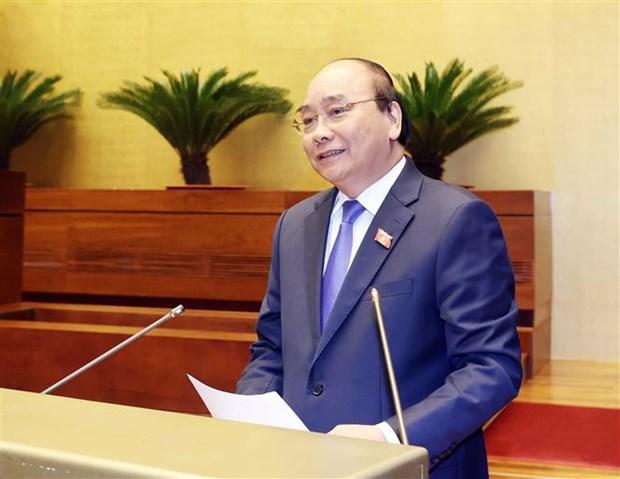 国会第十次会议:政府总理阮春福接受代表询问 hinh anh 1