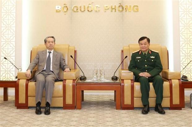 越南国防部副部长黄春战会见中国驻越大使熊波 hinh anh 1