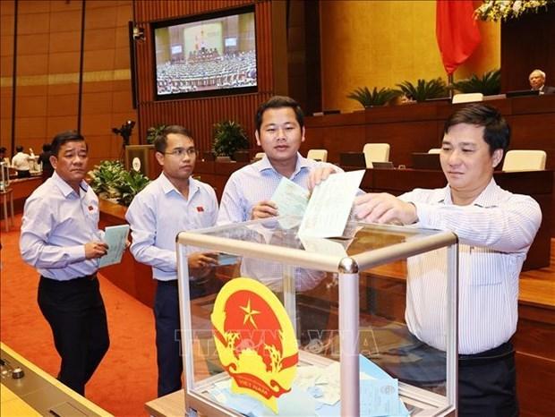 国会第十次会议:国会批准任命3个政府成员和最高人民法院法官 hinh anh 1